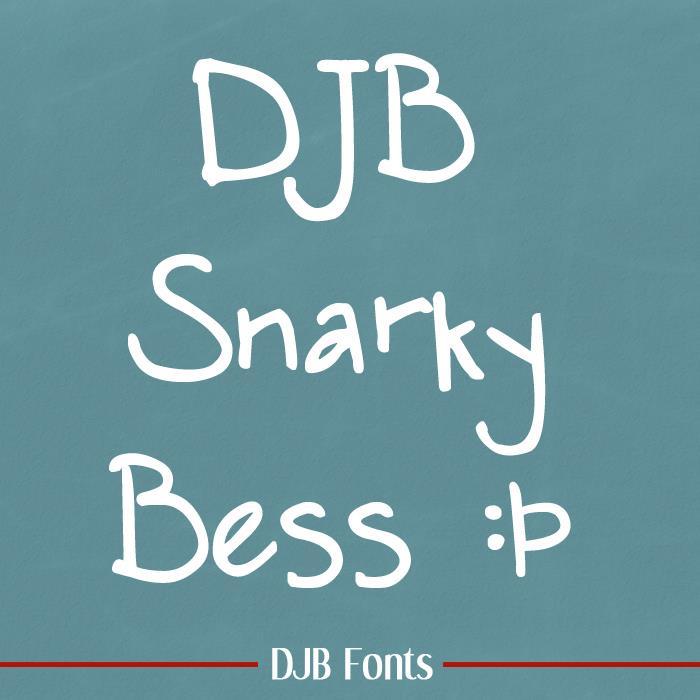 DJB SNARKY BESS font by Darcy Baldwin Fonts