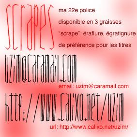 Scrapes font by Uzim