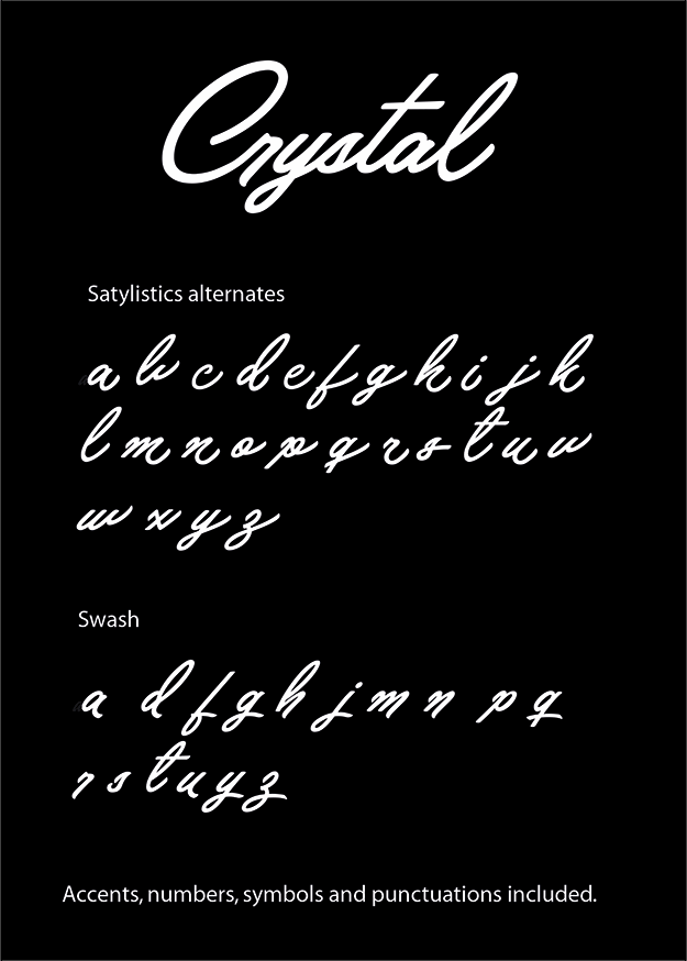 Crystal Personal Use font by Billy Argel