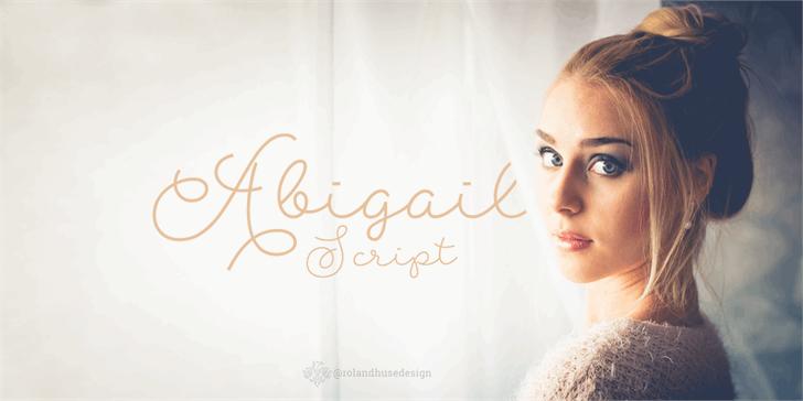 Abigail Script Demo font by Roland Huse Design