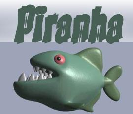 Piranha font by Gaut Fonts