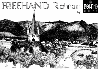 Freehand Roman font by Roland Huse Design