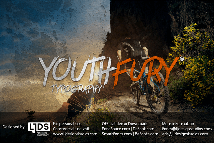 Youth Fury PERSONAL USE font by LJ Design Studios