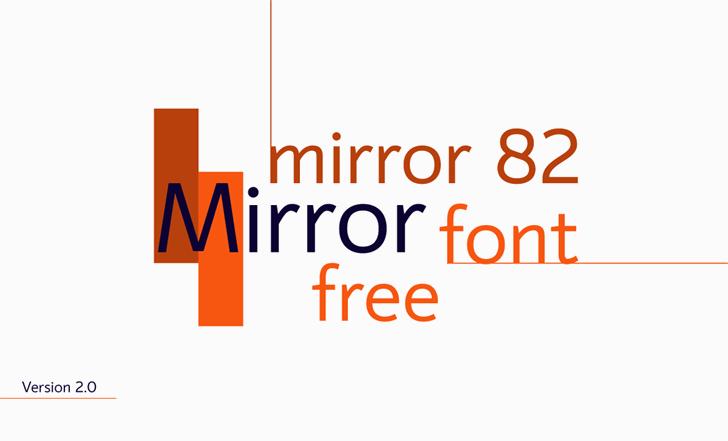 mirror 82 font by Igor Kosinsky
