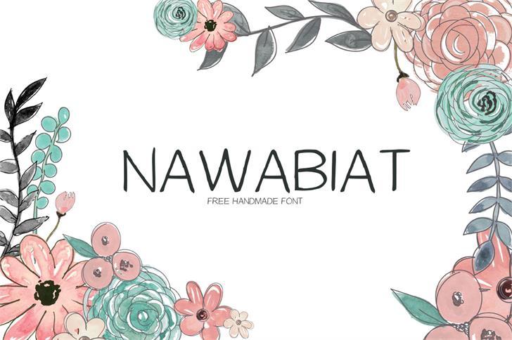 Nawabiat font by Creativetacos