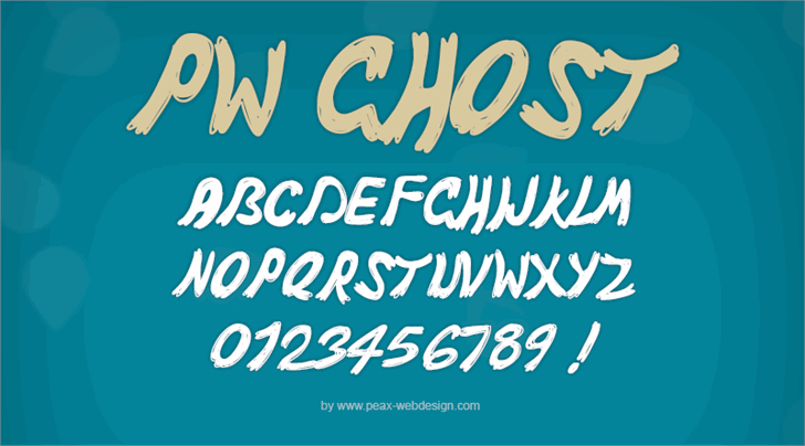 PWGhost font by Peax Webdesign