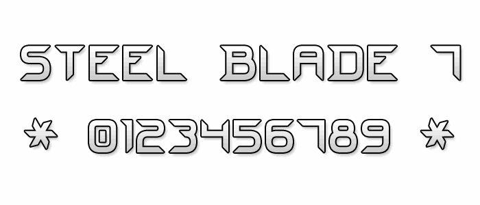 Steel Blade 7 font by Style-7