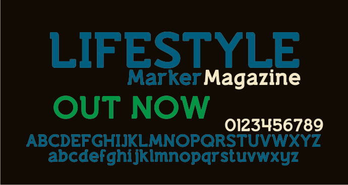 Lifestyle Marker M54 font by justme54s