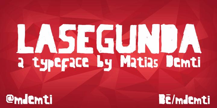 LaSegunda font by Matias Demti