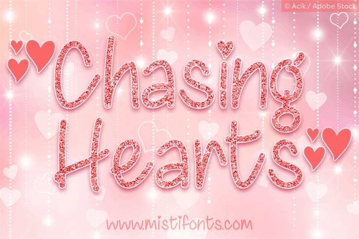 Chasing Hearts font by Misti's Fonts