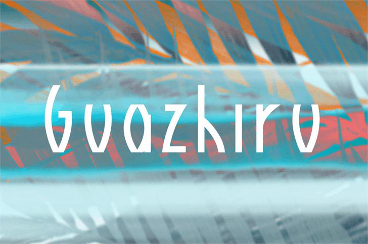 Guazhiru font by Rémi Godefroid
