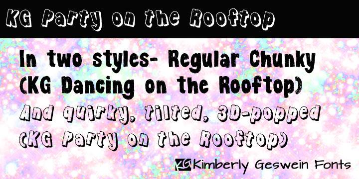 KG Party on the Rooftop font by Kimberly Geswein