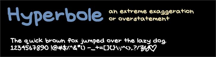 Hyperbole font by ZBY & Co.