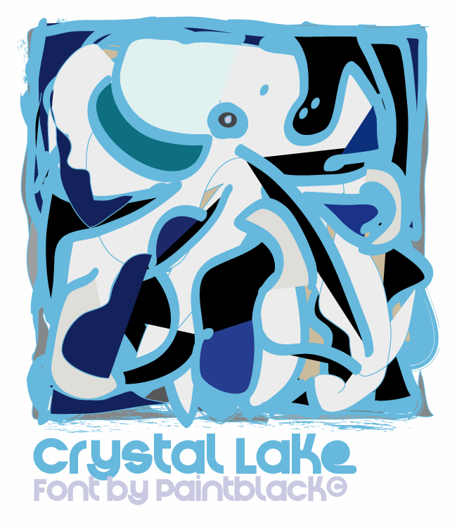 Crystal Lake font by paintblack éditions