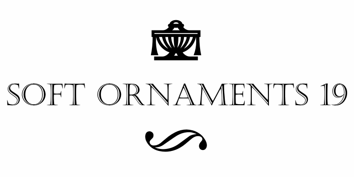 Soft Ornaments Nineteen font by Intellecta Design