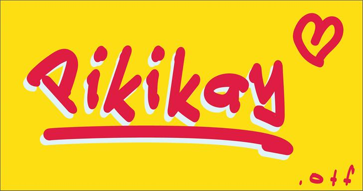 Pikikay font by VVB DESIGNS