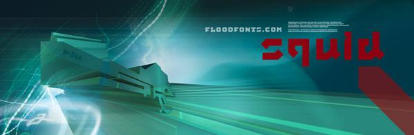Squid font by Floodfonts
