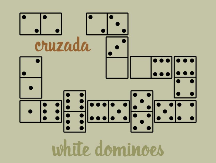 WhiteDominoes font by Intellecta Design