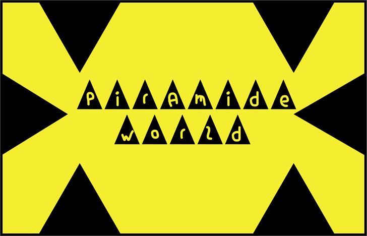 piramide world font by Cé - al