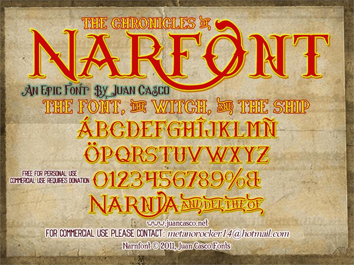 Narnfont by Juan Casco