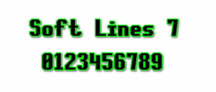 Soft Lines 7 font by Style-7