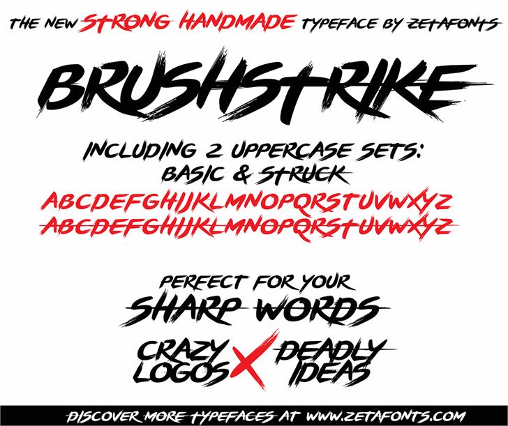 BRUSHSTRIKE font by Zetafonts