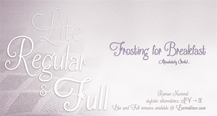 Frosting for Breakfast font by Leeviathan
