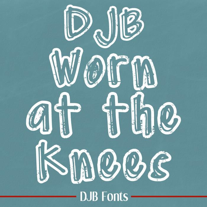 DJB Worn at the Knees font by Darcy Baldwin Fonts