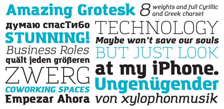 Amazing Grotesk font by Zetafonts