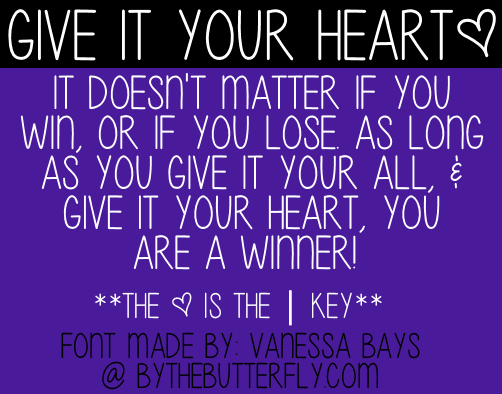 Give Your Heart font by ByTheButterfly