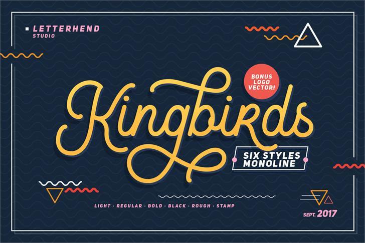 Kingbirds Regular DEMO font by Letterhend Studio