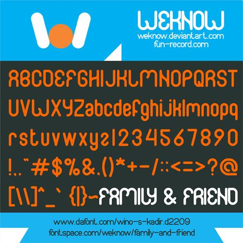 FAMILY & friend font by weknow