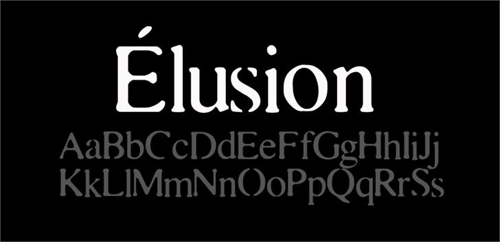 Elusion font by CloutierFontes