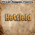 Hetfield font by Pixel Sagas