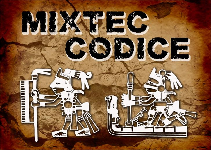 Mixtec Codice font by CloutierFontes