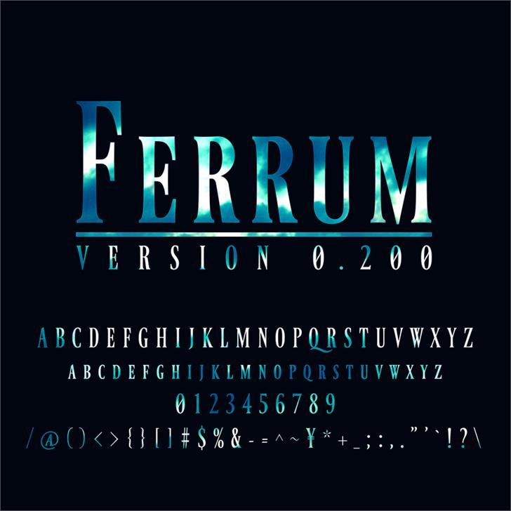 Ferrum font by arro