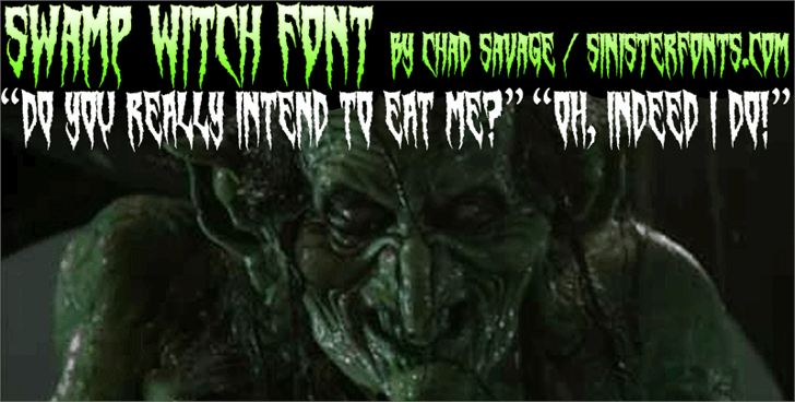 Swamp Witch font by Sinister Fonts