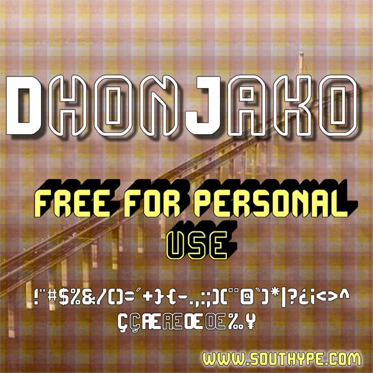 DhonJako St font by Southype