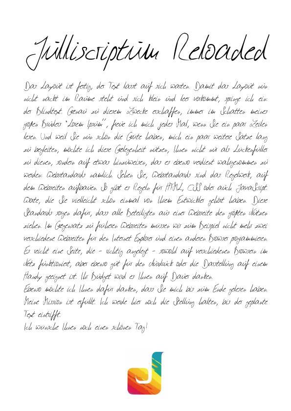 Julliscriptum Reloaded font by Julliversum