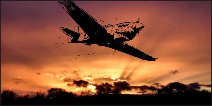 world war II warplanes 2 font by Intellecta Design