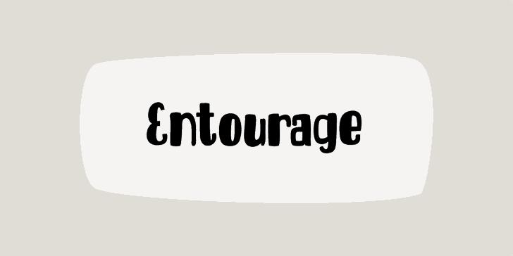 DK Entourage font by David Kerkhoff