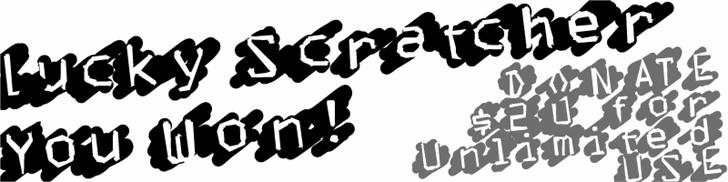 LuckyScratcher font by Xerographer Fonts