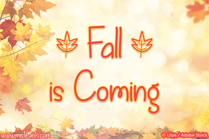 Fall is Coming font by Misti's Fonts