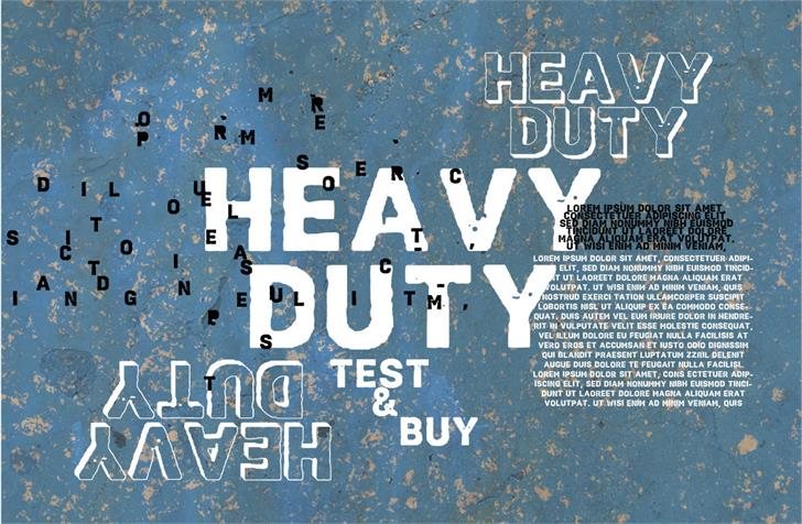 Vtks HeavyDuty font by VTKS DESIGN
