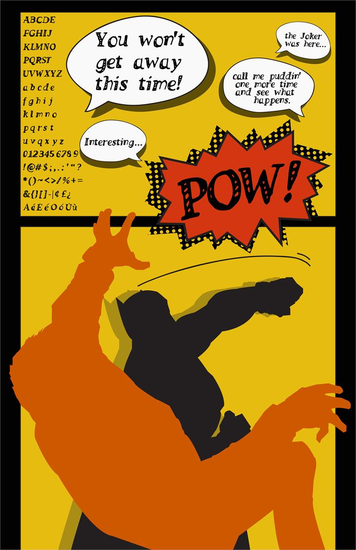 POW_ font by falconiodesigns
