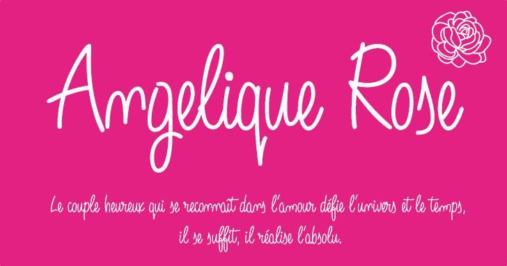 Angelique Rose font by deFharo