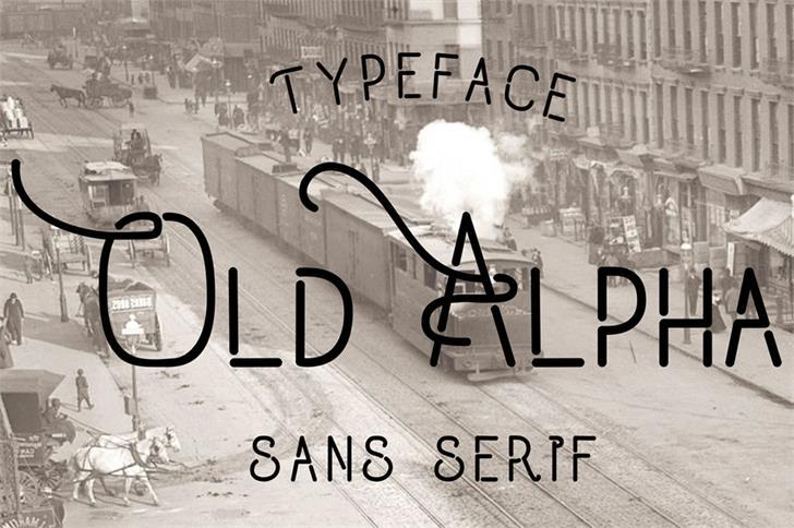Old Alpha font by madeDeduk