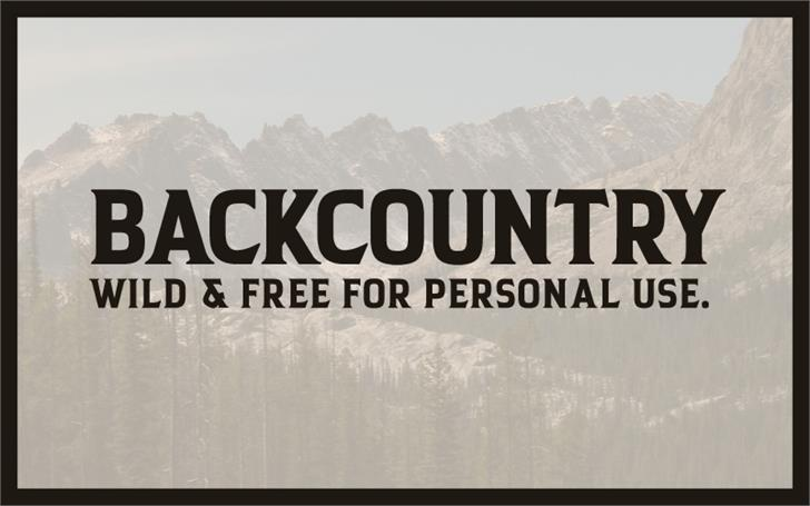 Backcountry font by HENRIavecunK