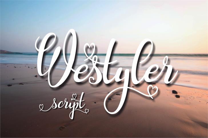 Westyler font by Eva Barabasne Olasz