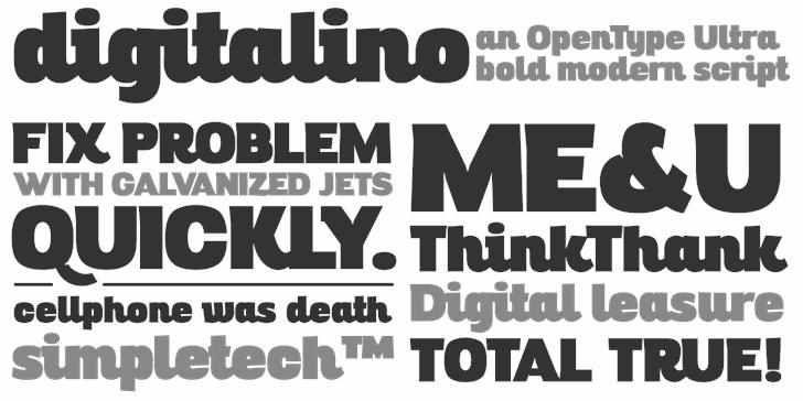 Digitalino font by Zetafonts